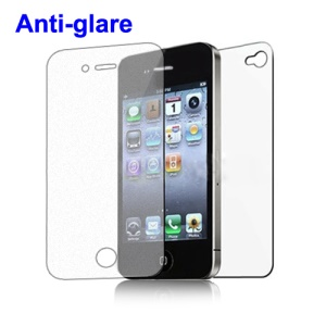 iPhone 4 4S Front and Back Screen Protector Guard (Frosted / Anti-Glare)