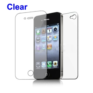 Clear Screen Protector Guard Film for iPhone 4 4S - Front and Back