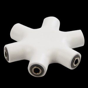 3.5mm 1 Female to 5 Female Stereo Splitter Adapter
