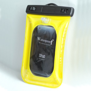 Diving Waterproof Pouch Case for iPhone 4/MP3/MP4/Mobile Phone, Size: 13*9.7 cm;Yellow