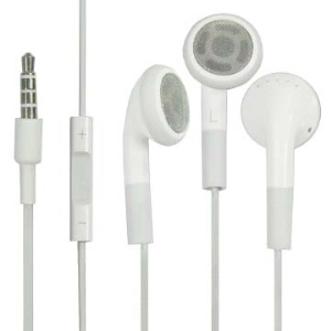 Stereo Headset Earphone with Mic and Remote Control for iPhone 4S 4 3GS (Original Material)