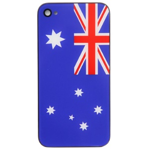 Australian Flag Pattern iPhone 4 Housing Back Cover Replacement