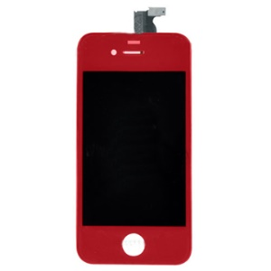 Red iPhone 4 LCD Digitizer Middle Bezel Assembly Parts