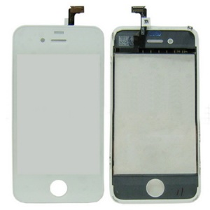 Original iPhone 4 Touch Screen Digitizer with Chassis Frame (White Color),No warranty,Only for professional buyer