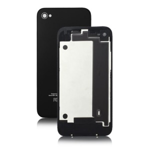 Glass Back Cover Housing Replacement for iPhone 4 4G - Black