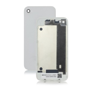Glass Back Cover Housing Replacement for iPhone 4 4G - White