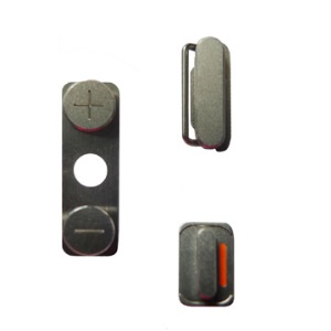3 in 1 Side Button Power Volume Mute Key Kit for iPhone 4 4G