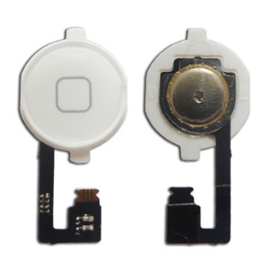 For iPhone 4 Home Button with Home Key Button PCB Membrane Flex Cable - White