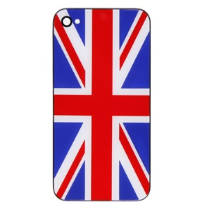 Hard Plastic Back Housing Cover for Apple iPhone 4 with British National Flag