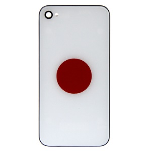 Japanese Flag Hard Plastic Back Housing Cover for iPhone 4 4G