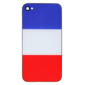 Brand New French Flag Hard Plastic Housing Cover for Apple iPhone 4