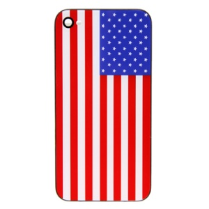 Popular American National Flag iPhone 4G Hard Plastic Back Housing Cover