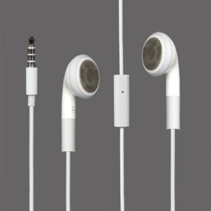 For iPhone 4S/4/3GS/3G Stereo Headphone Headset Earphone with mic (High Quality)