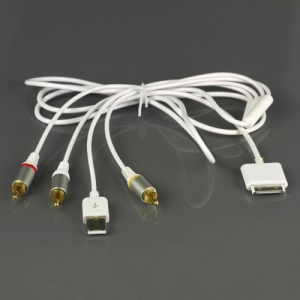 6ft Composite AV TV RCA Audio Video USB Cable for iPhone 3G 2G