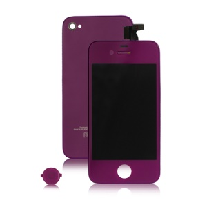 Verizon iPhone 4 Conversion Kit (LCD Assembly + Housing + Home Button) - Purple