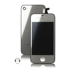 Plated Mirror Verizon iPhone 4 Conversion Kit (LCD Assembly + Housing + Home Button) - Silver
