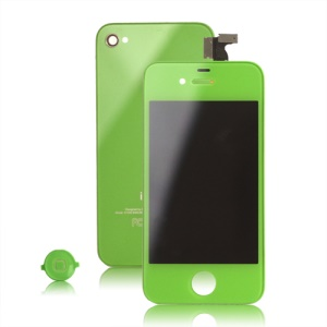Verizon iPhone 4 Conversion Kit (LCD Assembly + Back Housing + Home Button) - Green