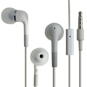 White 3.5mm iPhone 3G & 3GS Stereo Headset with mic