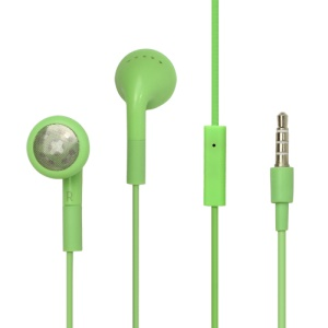 iPhone 3GS 3G Stereo Headphones with Remote and Mic - Green