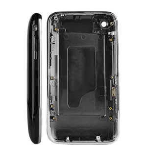 iPhone 3G 16GB Back Cover Housing with Middle Bezel Frame - Black