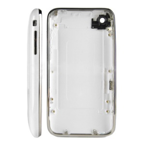 iPhone 3G 16GB Back Cover Housing with Mid Bezel Frame - White