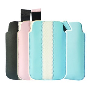 Convenient Leather Case With Self Pull-out Strip for iPhone 3G & iPhone 3GS