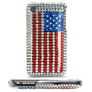 USA American Flag Diamond Hard Case for iPhone 3G & 3GS