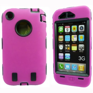Unique iPhone 3G & 3GS Defender Case Cover (Black Plastic Inner)