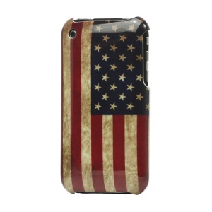 Vintage American Flag For iPhone 3GS/3G Hard Case Cover