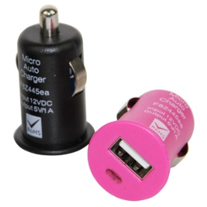 Colorful USB Auto Car Charger Adapter for iPod iPhone 4S 4 3GS 3G iPod