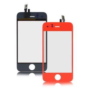 iPhone 3GS Digitizer Touch Screen Replacement - Red Orange