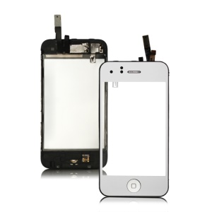 Electroplating Touch Screen Digitizer Assembly with Small Parts for iPhone 3GS - Silver