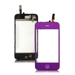 Electroplating iPhone 3GS Touch Screen Digitizer with Small Parts - Purple