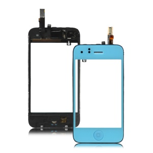 iPhone 3GS Touch Screen Digitizer with Home Button Bezel Earpiece ect - Baby Blue