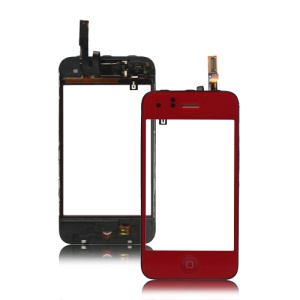 iPhone 3GS Touch Screen Digitizer with Home Button Bezel Earpiece ect - Red