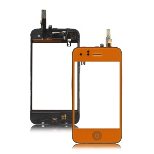 iPhone 3GS Touch Screen Digitizer with Small Parts - Orange