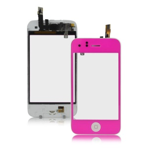 iPhone 3GS Touch Screen Digitizer with Home Button Bezel Earpiece ect - Hot Pink
