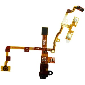 For iPhone 3GS Audio Jack Flex Cable Ribbon Repair Parts - Black