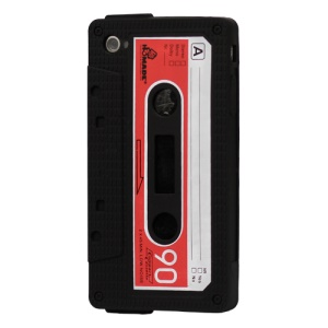 Cassette Tape Silicone Case for iPhone 4 4S - Black