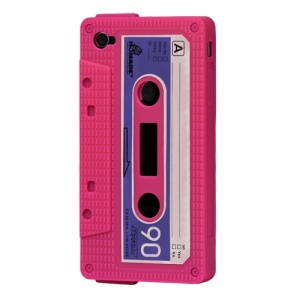 Cassette Tape Silicone Case for iPhone 4 4S - Rose