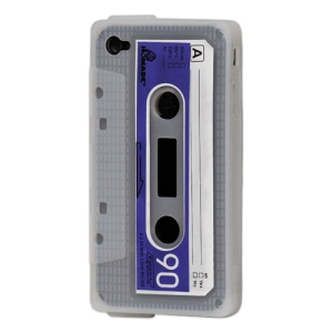 Cassette Tape Silicone Case for iPhone 4 4S - Transparent