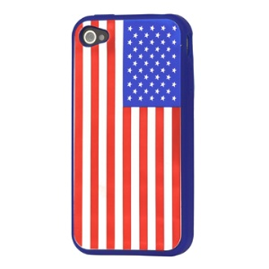 American Flag Soft Silicone Case for iPhone 4