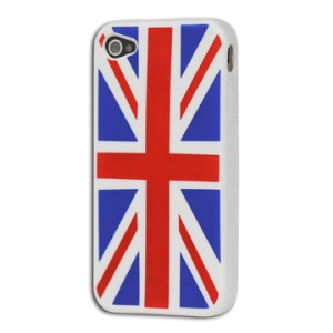 Union Jack Flag Silicone Case Cover for iPhone 4