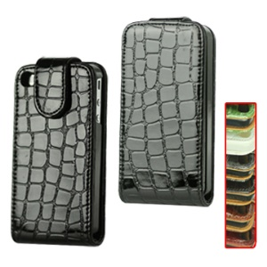 Crozzling Vertical Leather Flip Case for iPhone 4 4S (All Versions)