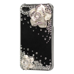 Rose Diamond Bling Hard Case Cover for iPhone 4 4S