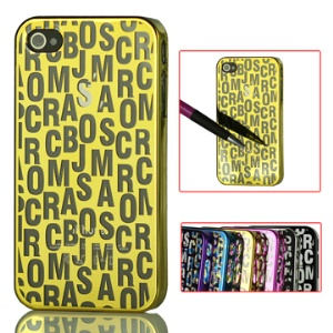 Literal Mirror Surface Electroplating Hard Case for iPhone 4