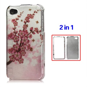 Snap-on Plum Blossom Hard Case for iPhone 4 4S