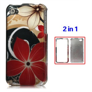 Snap-on Flowers Hard Case for iPhone 4 4S