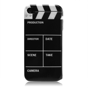 Clap Clapper Board Slate Movie Cut Hard Plastic Case for iPhone 4