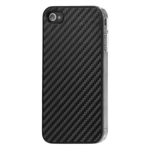Carbon Fibre Hard Protective Case for iPhone 4 - Black